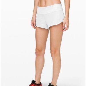 LuluLemon White Speed Up Shorts